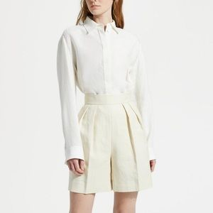 Theory Luxe Linen Pleated Shorts 2